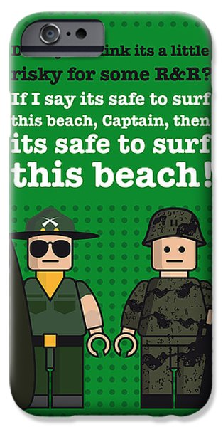 Francis Ford Coppola iPhone Cases - My apocalypse now lego dialogue poster iPhone Case by Chungkong Art