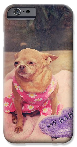 Canine Digital iPhone Cases - My Baby iPhone Case by Laurie Search