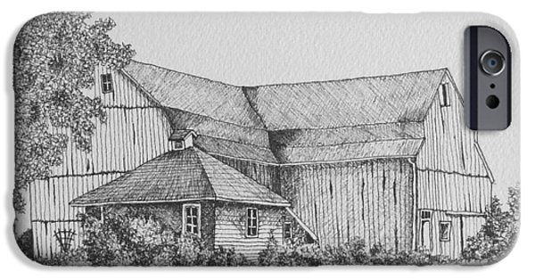 Recently Sold -  - Shed Drawings iPhone Cases - My Barn iPhone Case by Gigi Dequanne
