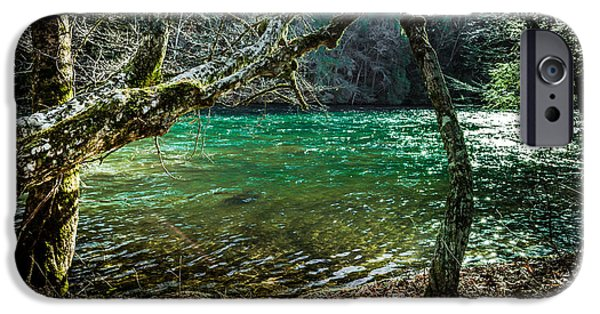 Emerald Green iPhone Cases - My Brothers River iPhone Case by Karen Wiles