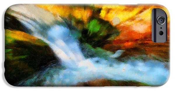 Comfort Paintings iPhone Cases - My Cup Runneth Over iPhone Case by Dan Sproul