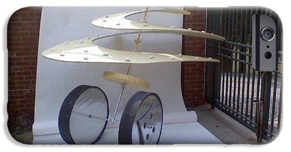 Flight Sculptures iPhone Cases - My da Vinci inspired sculpture iPhone Case by Stacy C Bottoms