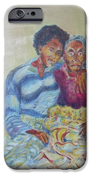Ethiopian Woman iPhone Cases - My Dear Grandma iPhone Case by Esther Newman-Cohen