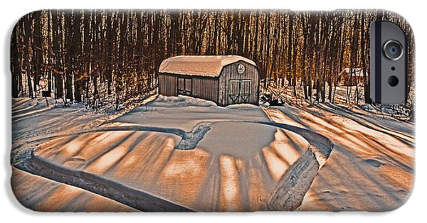 Old Barn Drawing iPhone Cases - My Dog Trail Run 2 iPhone Case by Gary Keesler