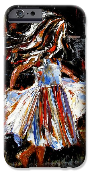 Little Girl iPhone Cases - My Dress iPhone Case by Debra Hurd