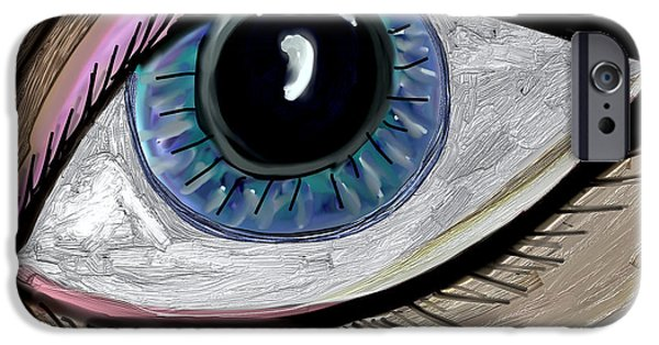 Discernment iPhone Cases - My Eye iPhone Case by Kim Peto