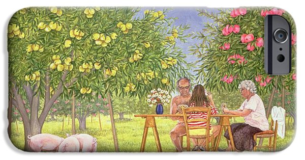 Apple Orchard iPhone Cases - My Family And Other Animals iPhone Case by Ditz