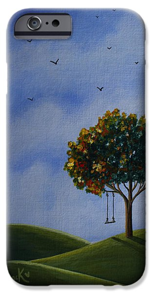 Tree Art Print iPhone Cases - My Favorite Place Original Artwork iPhone Case by Shawna Erback