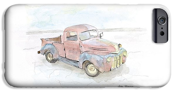 Old Truck iPhone Cases - My Favorite Truck iPhone Case by Joan Sharron