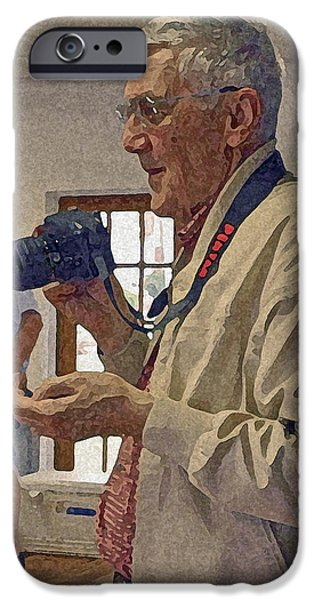 Gray Hair iPhone Cases - My Friend Maury iPhone Case by Jean Hall