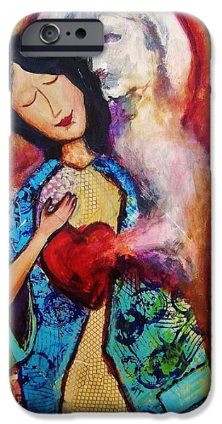 Betrothed iPhone Cases - My Friend The Holy Spirit iPhone Case by Dana Vacca