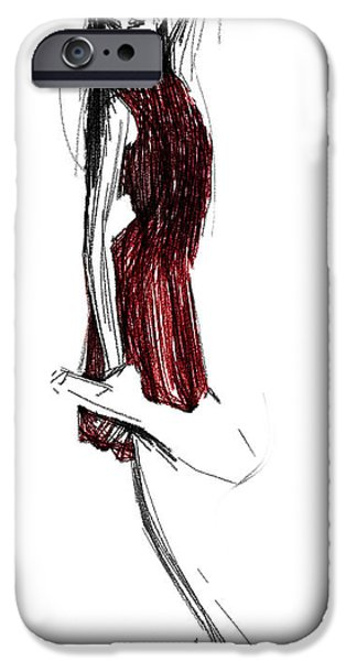 Ballerina Drawings iPhone Cases - My Girl iPhone Case by Stefan Kuhn