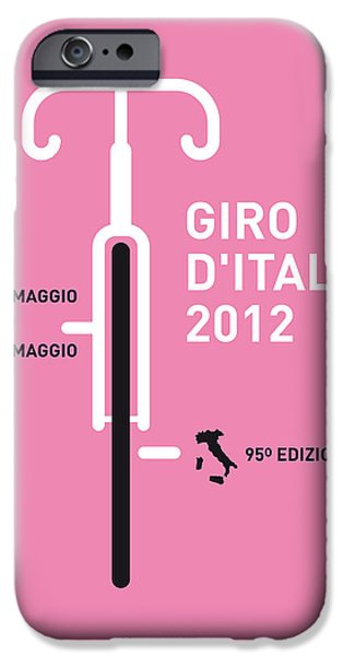 D iPhone Cases - My Giro D Italia Minimal Poster iPhone Case by Chungkong Art