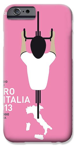 Cycles iPhone Cases - My Giro Ditalia Minimal Poster iPhone Case by Chungkong Art