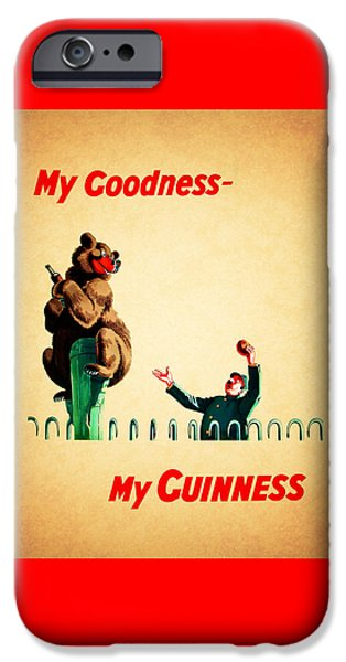 Menu iPhone Cases - My Goodness My Guinness 2 iPhone Case by Mark Rogan