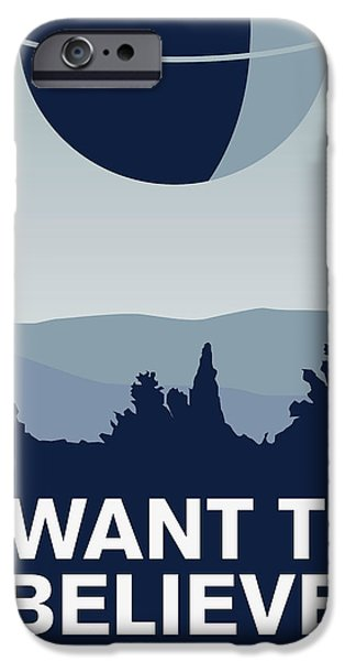 Xwing iPhone Cases - My I want to believe minimal poster-deathstar iPhone Case by Chungkong Art