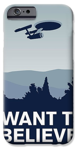 Xwing iPhone Cases - My I want to believe minimal poster-Enterprice iPhone Case by Chungkong Art