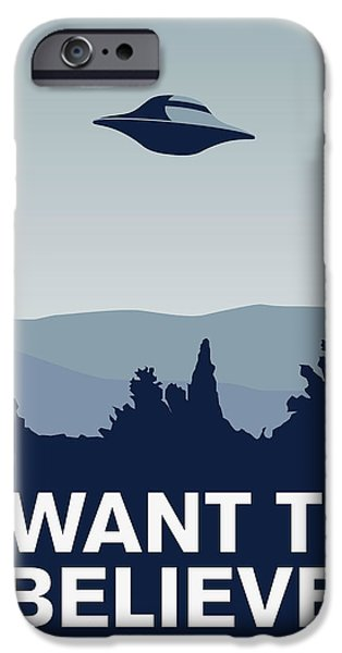 Doctor iPhone Cases - My I want to believe minimal poster-xfiles iPhone Case by Chungkong Art