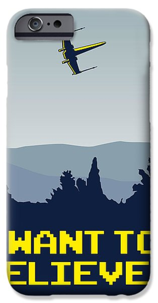 Xwing iPhone Cases - My I want to believe minimal poster- xwing iPhone Case by Chungkong Art