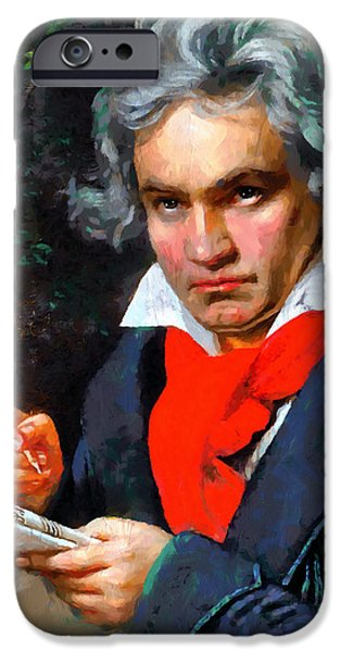 Beloved iPhone Cases - My Immortal Beloved - Beethoven iPhone Case by Georgiana Romanovna