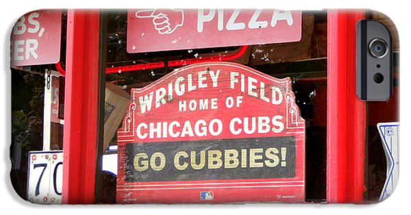 Wrigley Field iPhone Cases - My Kind of Town iPhone Case by Karyn Robinson