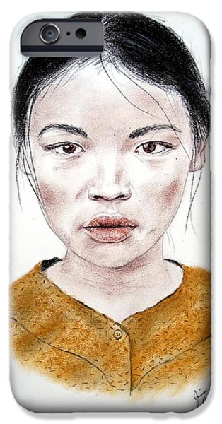 My Kuiama a Young Vietnamese Girl  iPhone Case by Jim Fitzpatrick