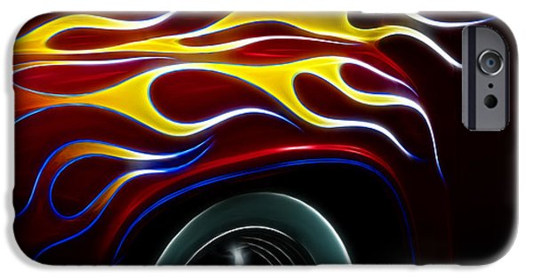 Fractals Fractal Digital Art iPhone Cases - My Latest Flame iPhone Case by Bob Christopher