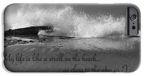Thoreau iPhone Cases - My Life In Black And White iPhone Case by Heidi Smith