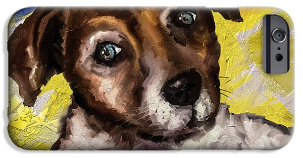 Jack Russell iPhone Cases - My little Jack iPhone Case by Alessandro Della Pietra