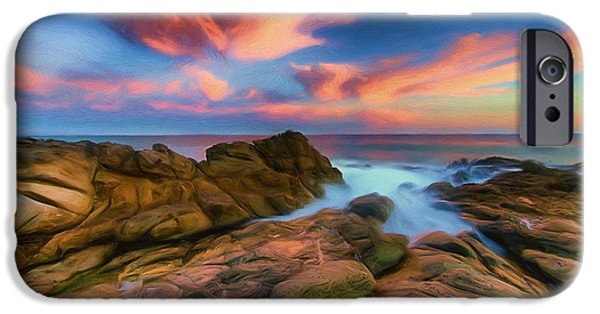 Malibu Paintings iPhone Cases - My Malibu iPhone Case by Joel Olives