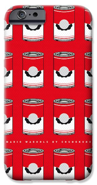 Warhol iPhone Cases - My Mario Warhols Minimal Can Poster-mario-2 iPhone Case by Chungkong Art
