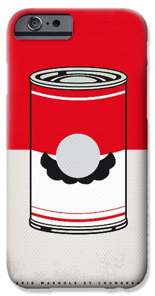 Warhol Art iPhone Cases - My Mario Warhols Minimal Can Poster-mario iPhone Case by Chungkong Art