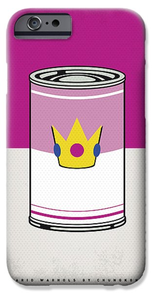 Warhol Art iPhone Cases - My Mario Warhols Minimal Can Poster-peach iPhone Case by Chungkong Art
