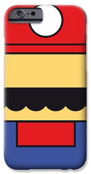 MY MARIOBROS FIG 01 MINIMAL POSTER iPhone Case by Chungkong Art
