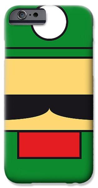 MY MARIOBROS FIG 02 MINIMAL POSTER iPhone Case by Chungkong Art