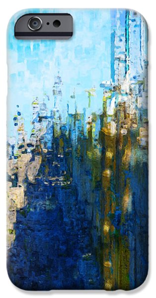 Painter Photo Digital Art iPhone Cases - My Midtown Tomorrow iPhone Case by Jack Zulli