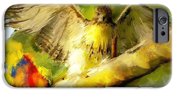 Spirit Hawk iPhone Cases - My mission today iPhone Case by Richard Okun