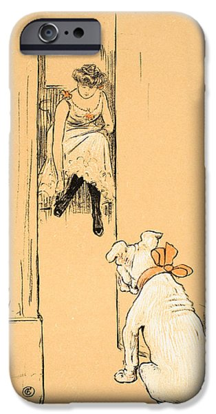 Lady Pastels iPhone Cases - My Mistress Dressing iPhone Case by Cecil Charles Windsor Aldin