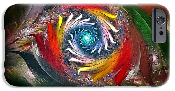 Poetic iPhone Cases - My My Beautiful Laundrette-Fractal Art iPhone Case by Karin Kuhlmann