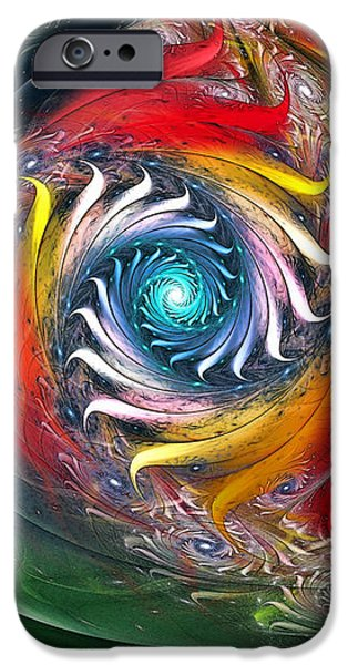 My My Beautiful Laundrette-Fractal Art iPhone Case by Karin Kuhlmann