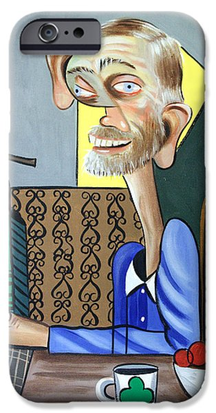 Old Man Digital iPhone Cases - My Neighbor Joe iPhone Case by Anthony Falbo