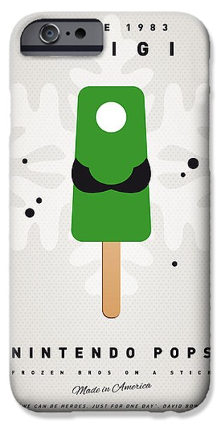 Mushrooms iPhone Cases - My NINTENDO ICE POP - Luigi iPhone Case by Chungkong Art