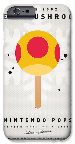 Plants Digital iPhone Cases - My NINTENDO ICE POP - Mega Mushroom iPhone Case by Chungkong Art
