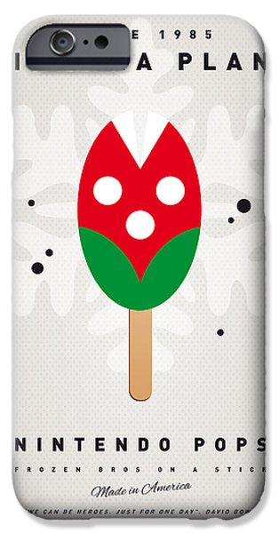 Mushrooms iPhone Cases - My NINTENDO ICE POP - Piranha Plant iPhone Case by Chungkong Art
