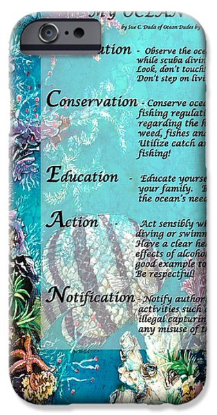 Ocean Tapestries - Textiles iPhone Cases - My Ocean Creed iPhone Case by Sue Duda