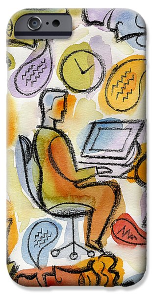 Cooperation iPhone Cases - My Office iPhone Case by Leon Zernitsky