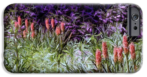 Garden Tapestries - Textiles iPhone Cases - My Painted Garden iPhone Case by Thia Stover