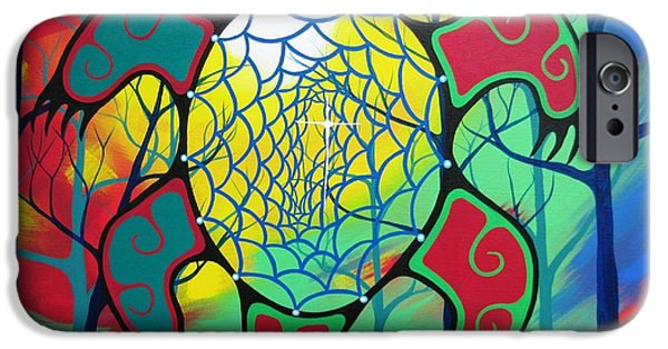 Dreamcatcher iPhone Cases - My Path iPhone Case by Jim Oskineegish
