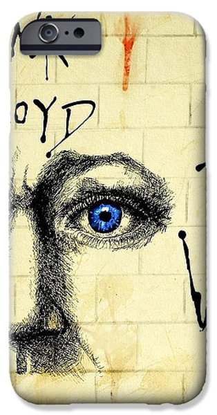 My Pink Floyd Wall iPhone Case by Todd Spaur