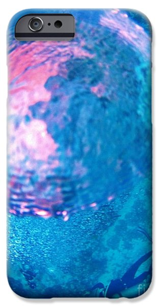 Fish On A Reef iPhone Cases - My Reflection in a Divers Bubble iPhone Case by John Malone